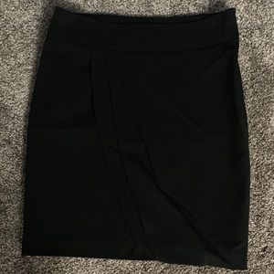 Mossimo Stretch Black Skirt with Ruched Detail